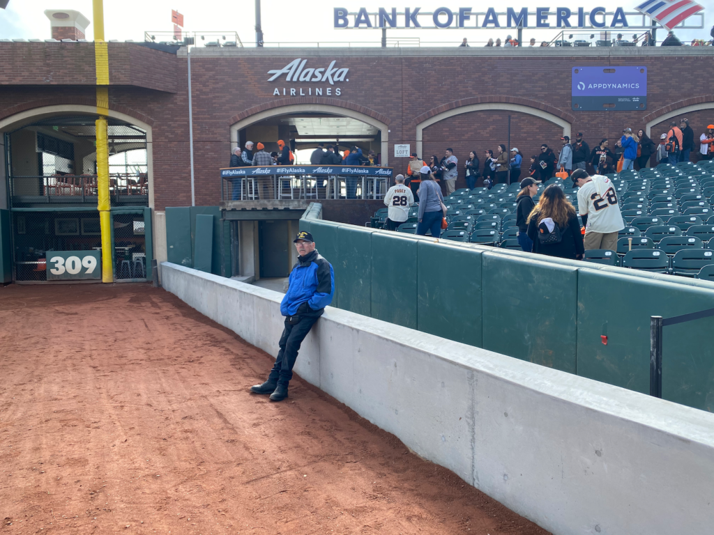 The view of the new wall along the right field line at Oracle Park, viewed during FanFest on February 8th, 2020.  Photo by Kevin J. Cunningham