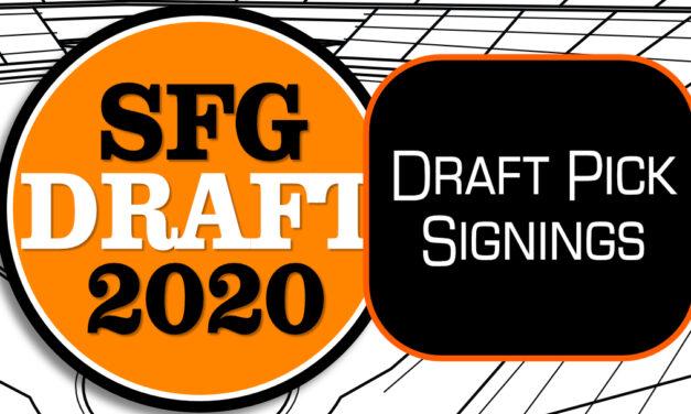 Giants Sign 3 More 2020 Draft Picks
