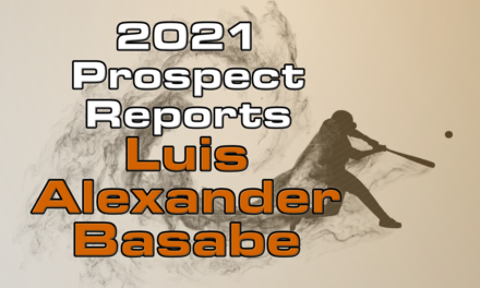 Luis Alexander Basabe Prospect Report – 2021 Offseason