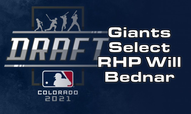 RHP Will Bednar is the Giants 1st Round Pick